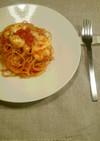 トマトとモッツレラのシンプルパスタ。