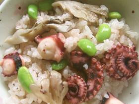 キユーピー和風スープの素でタコの桜飯