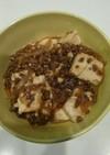 豆腐と挽き肉ですき焼き風丼