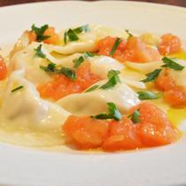 ツナとリコッタチーズのラビオリ