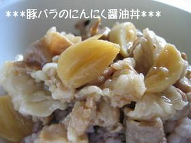 にんにく醤油の豚丼