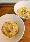 野沢菜とみょうが酢漬けの炒飯