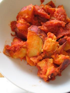 さつまいもと豚肉のトマト煮