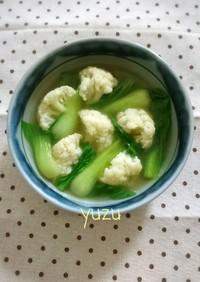 創味シャンタンで♪チンゲン菜の中華スープ