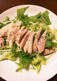 茹で鶏肉サラダ