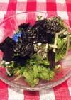 水菜とサニーレタスのサラダ