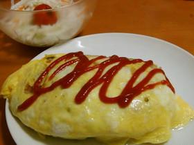 卵1個と炊飯器で作るふわふわオムライス