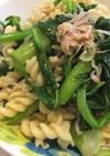 菜の花とマカロニのサラダ