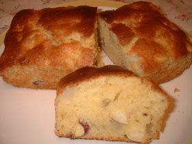 簡単☆さつまいもとリンゴのパウンドケーキ