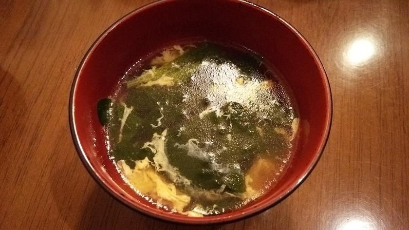 ほうれん草と卵の中華風スープ