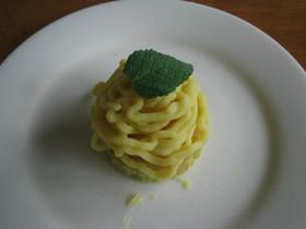リンゴとさつま芋モンブラン
