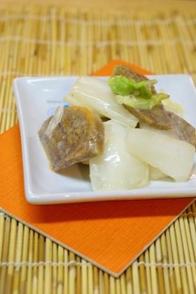 柿と白菜の芯の マヨネーズ和え