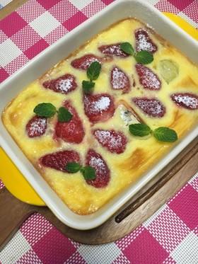 食の山梨:イチゴとキウイのクラフティ
