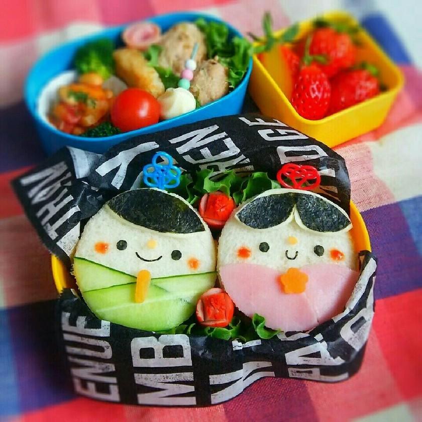 サンドイッチで簡単♡ひな祭りキャラ弁