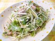 簡単♪鯖缶&水菜・新玉混ぜ混ぜサラダの写真