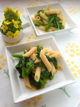 食の山梨:菜の花とペンネの甘酒醤油和え