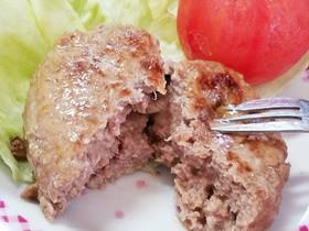 肉汁旨い《ビーフハンバーグ》時短15分♪