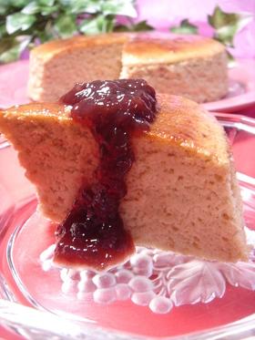 ぶどう(巨峰)チーズスフレケーキ