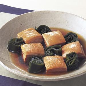 豚角煮と昆布の炊き合わせ