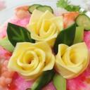 色々バリエ♡簡単スライスチーズバラの花