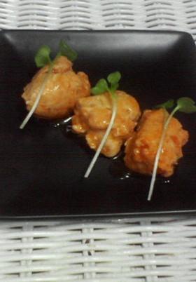 鶏ミートボールのケチャップ煮