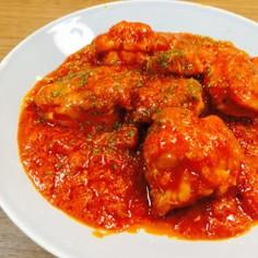 鶏のトマト煮込み♡