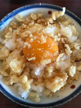 ふわふわ天かす卵かけごはん☆TKG