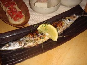 ちょいとおしゃれに 秋刀魚のハーブ焼き