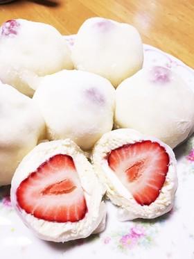 チーズケーキいちご大福♪ひなまつり♪