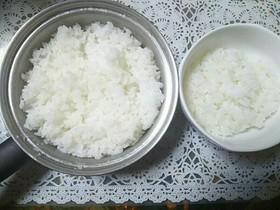 ★メモ★鍋で浸漬0分・無洗米の炊き方★