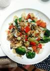 牡蠣と彩り野菜のガーリックソテー