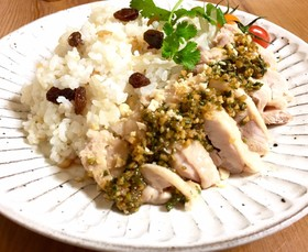 タイ風チキンライス炊飯器でカオマンガイ