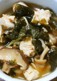 簡単*鶏ささみとワカメの大葉香る甘酢煮♡