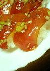 ウマいよ~♪漬マグロのにぎり寿司