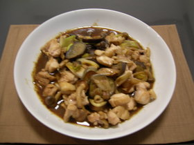 鶏肉と秋野菜の味噌炒め