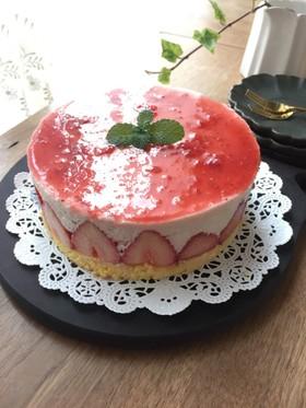 ジャムで簡単♪春色レアチーズケーキ