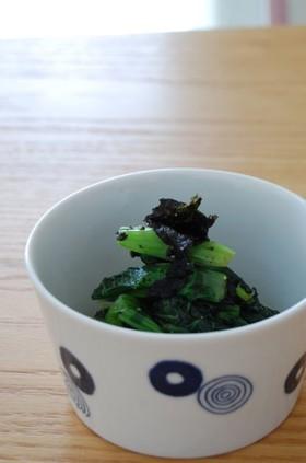 小松菜と海苔のおひたし