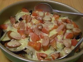 フライパンで♪ナスとトマトのチーズ焼き♧