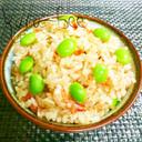 簡単旨い♡桜えびと枝豆の春色炊き込みご飯