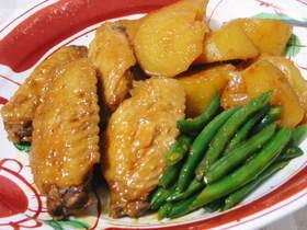 鶏手羽とジャガイモの甘辛煮