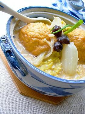 魚河岸あげのピリ辛豆乳煮