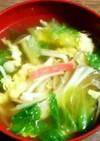 包丁要らず☆キノコとレタスの中華スープ♡