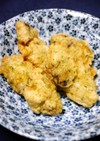 ほんだしで!ぷるぷる牡蠣の青のり天ぷら