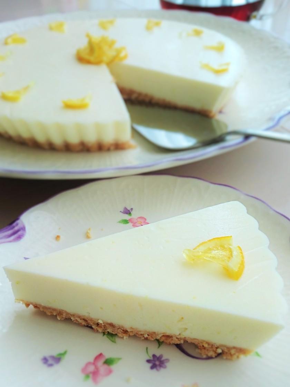 ココナッツオイルdeレアチーズケーキ