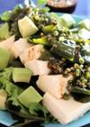 ★豆腐とわかめの韓国風サラダ。