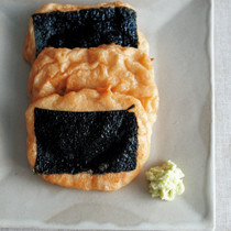 豆腐と魚のすり身の磯辺焼き