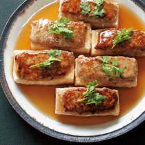 豆腐の中華風ひき肉のせステーキ