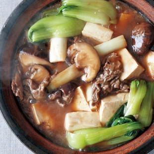 豆腐と干ししいたけ、牛肉のオイスターソース煮