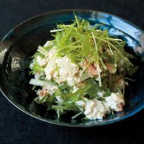 水菜とツナの和風豆腐サラダ