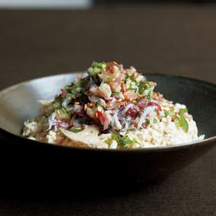 豆腐の小どんぶり しらすの梅わさび丼